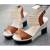 Comfortable High Heel Wedge Sandals For Women-Brown