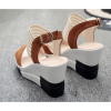 Brown Color Comfortable High Wedge Sandals For Women image