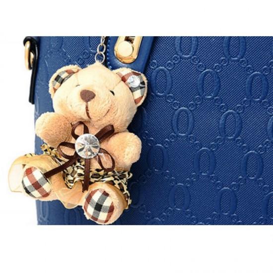 Women's Four Piece Shoulder Hands & Key Bags Set-Blue image