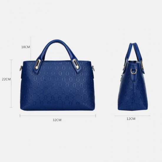 Womens Blue Color Four Piece Shoulder Hands & Key Bags Set image