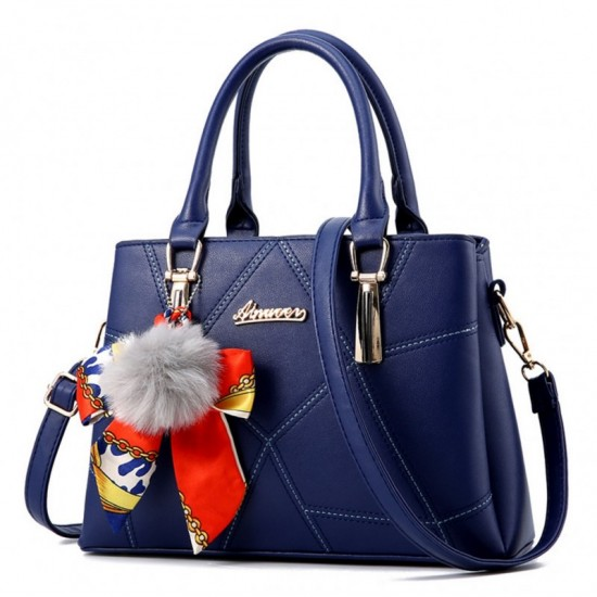 Women Fashion Large Korean Version Messenger Hand Bag-Blue image