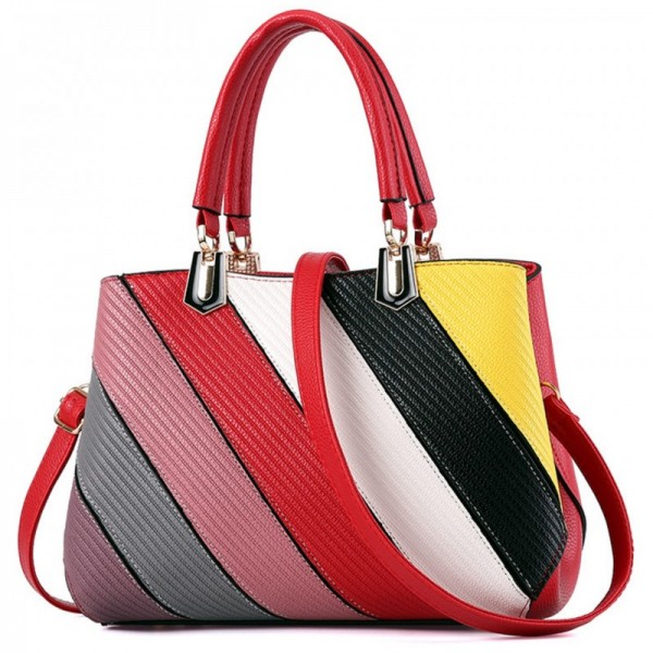 Women Fashion Graffiti Red Shoulder Messenger Handbag image