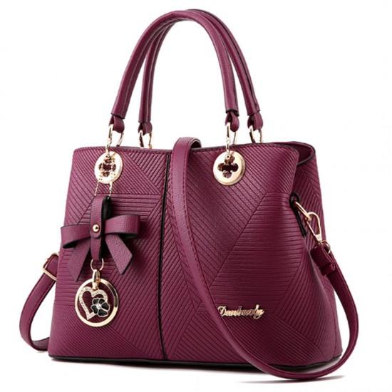 Trendy Fashion Shoulder Messenger Women Handbag-Tea Pink image