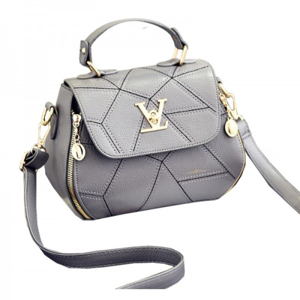 Women Fashion V Small Square Shape Grey Color Handbag image