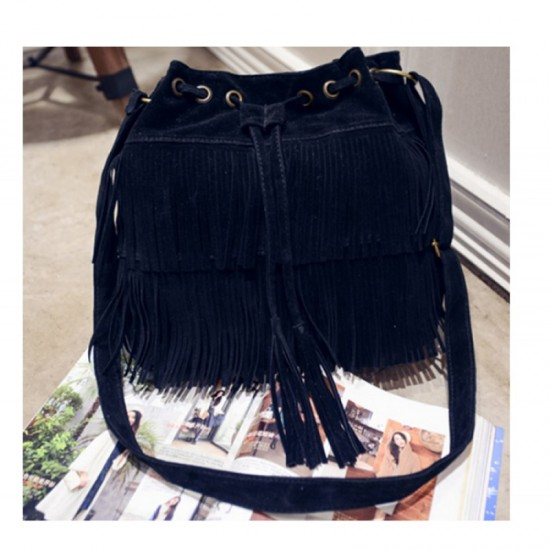 Women Fashion Square Shape Shoulder Handbag-Black image