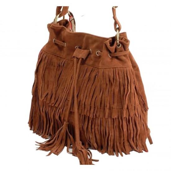 Women Fashion Square Shape Shoulder Handbag-Brown image