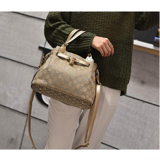European And American Style Kelly Retro Shoulder Handbag-Golden image