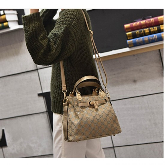 European And American Style Kelly Retro Shoulder Handbag-Golden image