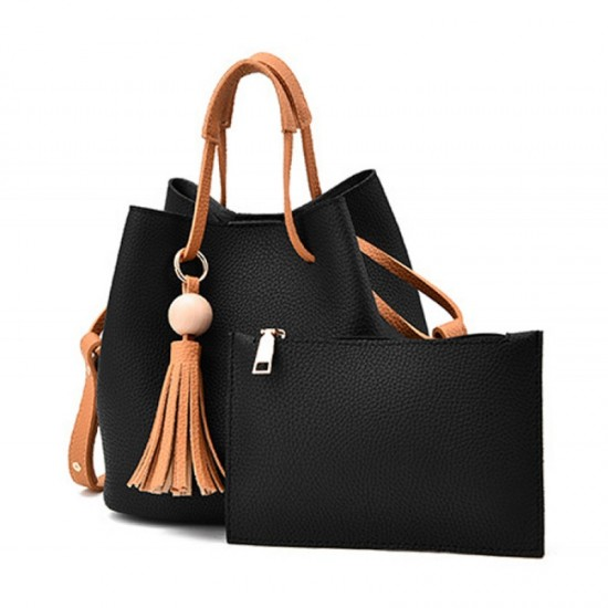 Women Fashion Wild Shoulder Messenger Handbag-Black image
