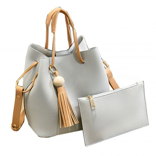 Women Fashion Wild Shoulder Messenger Handbag-Cream image