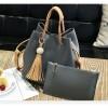 Women Fashion Wild Shoulder Messenger Dark Grey Color Handbag image