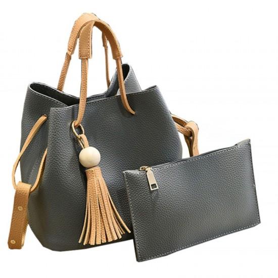 Women Fashion Wild Shoulder Messenger Handbag-Dark Grey image