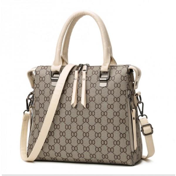 Cream Strap Women Latest Design Shoulder Diagonal Brown Color Handbag image