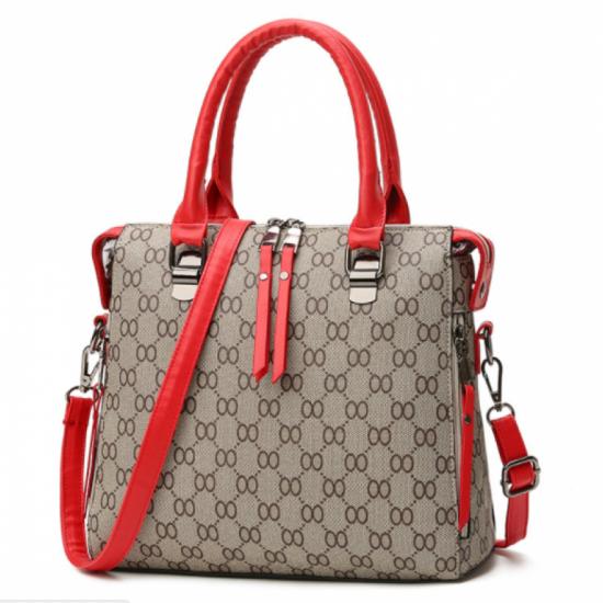 Red Strap Women Latest Design Shoulder Diagonal Brown Color Handbag image