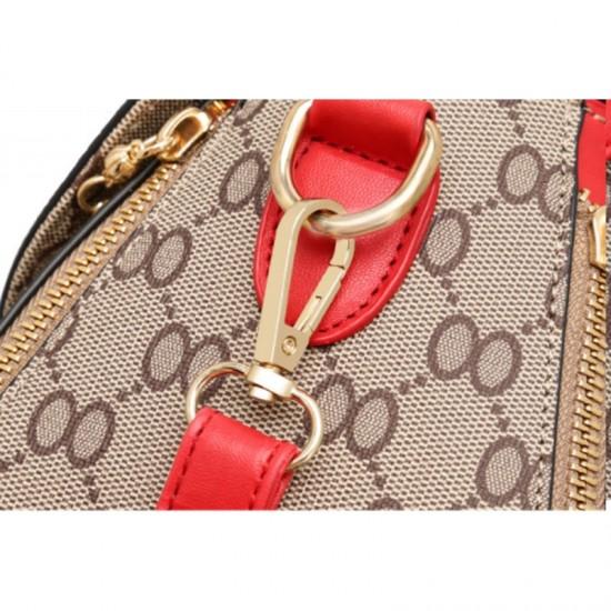 Red Strapped Women Fashion Shoulder Diagonal Handbag image