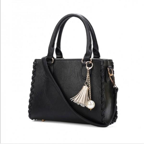 Black Color Elegant Women Fashion Brand Shoulder Handbag image
