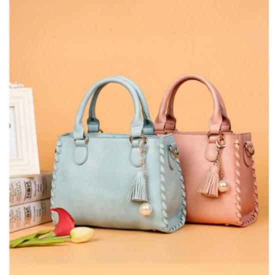 Light Blue Color Elegant Women Fashion Brand Shoulder Handbag image