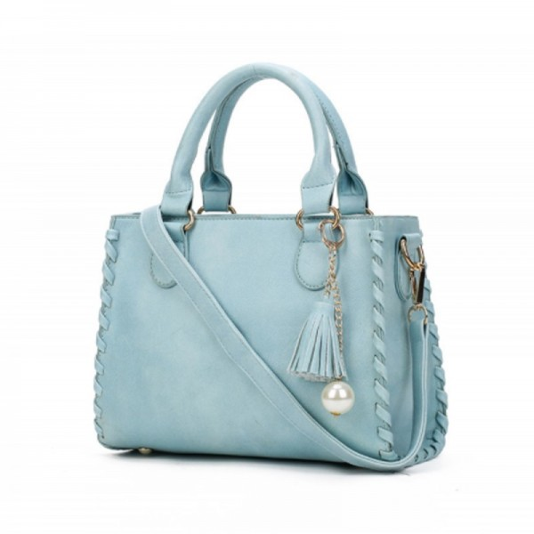 Light Blue Color Elegant Women Fashion Brand Shoulder Handbag image