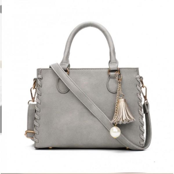 Grey Color Elegant Women Fashion Brand Shoulder Handbag image