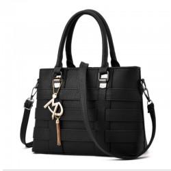 Black Color Women Fashion Shoulder Diagonal Stylish Handbag