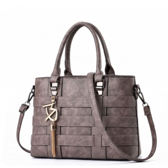 Grey Color Women Fashion Shoulder Diagonal Stylish Handbag image