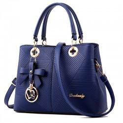 Blue Color Trendy Leisure shoulder Messenger Ladies Handbag