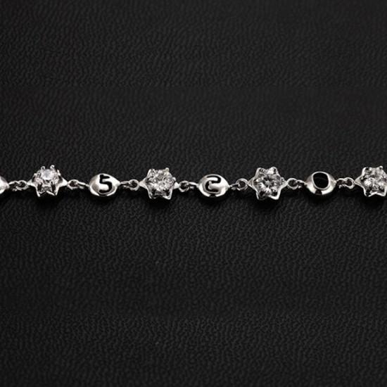 Korean Fashion Silver Color Crystal Bracelet Women image