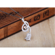 Woman Fashion Hanging Rose Design Pendant-Silver image