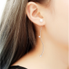 Woman Fashion New Long Style S Wave Silver Earrings image