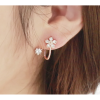 Woman Rose Gold Sweet Diamond Flowers Earrings image