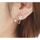 Woman Sweet Diamond Flowers Earrings-Rose gold image