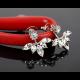 Woman Crystal Rhinestone Ear Stud Earrings-Silver image
