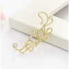Women Butterfly U Shaped Gold Color Ear Clip image