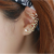 Women Butterfly U Shaped Gold Color Ear Clip