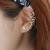 Women Butterfly U Shaped Ear Clip-Gold