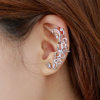 Women Butterfly U Shaped Silver Color Ear Clip image