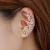 Women Butterfly U Shaped Ear Clip-Silver