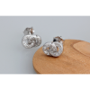 Woman Fashion Silver Wholesale Micro-Set Number 8 Earrings image