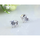 Woman Fashion Zircon Dolphin Style Earrings-Silver image