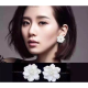 Woman Fashion Wild Flower Style Earrings-White image