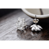 Woman Fashion Original Design Wind Flower Silver Pin Earrings image