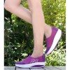 Purple Color High Bottom Breathable Mesh Sports Joggers For Women S-19PR image