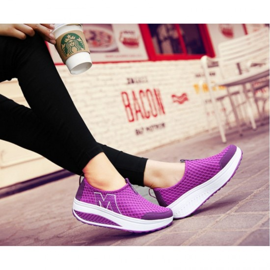 HOT Sports Purple Color High Bottom Breathable Mesh Sports Joggers For Women image