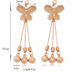 Women Fashion Romantic Beautiful Butterfly Style Earrings image
