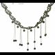 Little Beads Tassel Retro Lock Bone Black Necklace image