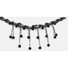 Little Beads Tassel Retro Lock Bone Black Necklace image