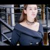 Black Lace Paragraph Style Women Fashion Tessel Necklace image