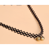 Simple Bell Hanging Lace Women Fashion Black Necklace image