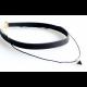 Women Stylish Double Strap Triangle Pendant Necklace-Black image