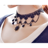 Handmade Ornaments Exaggerated Women Fashion Lace Black Necklace image